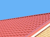 Red roof tiles. — Stock Photo