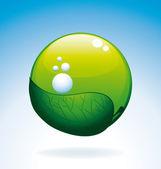Bio oxygen symbol. — Stock Vector