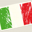 Grunge italian flag - Stock Vector