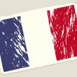 Grunge french flag — Stock Vector