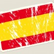 Grunge spanish flag — Vector de stock