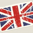 Stockvector : Grunge british flag