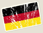 Grunge german flag — Stock Vector
