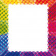 Royalty-Free Stock Vector Image: Rainbow halftone background