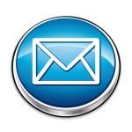 Blue envelope contact button. — Stock Vector