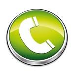 Green phone button. — Stock Vector #2928322