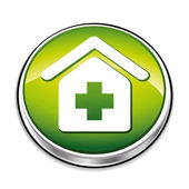 Green health recovery button — Stock Vector