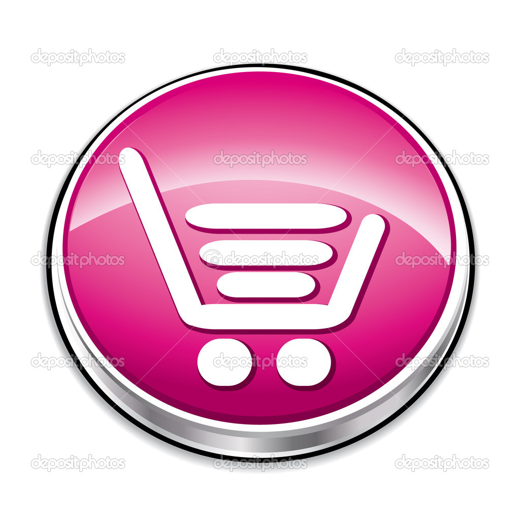 Pink shopping cart button — Stock Vector #2928317
