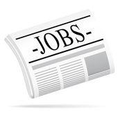 Jobs newspaper — Stock Vector