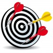 Target and arrows aim concept icon - Image vectorielle