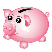 Piggy bank — Stock Vector