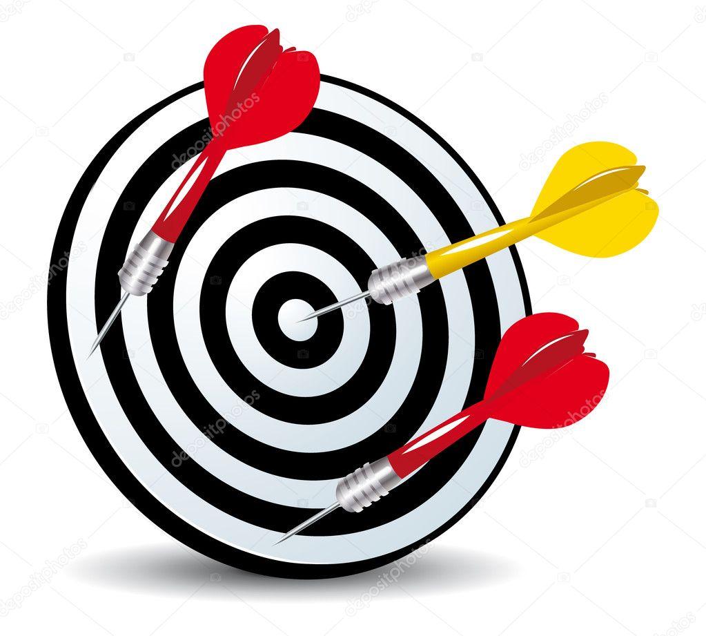 Aim Target Logo Target And Arrows Aim Concept
