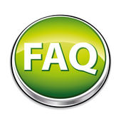 3d green faq button — Stock Vector