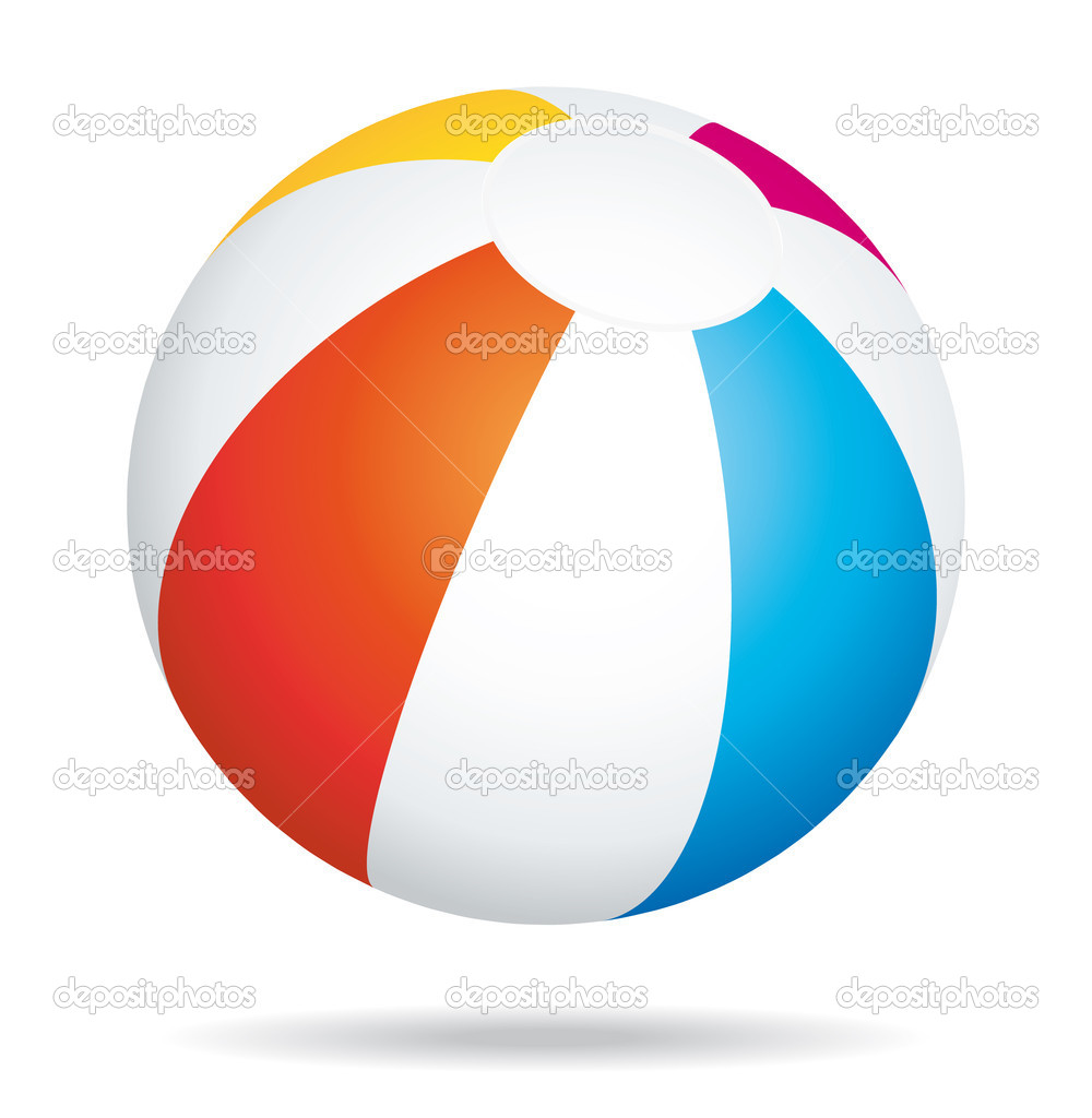Beach ball — Stock Vector #3311593