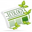 Vector de stock : Ecology newspaper.