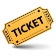 Yellow ticket — Stockvectorbeeld