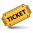 Yellow ticket — Imagen vectorial