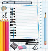 School supplies background. — Stock Vector