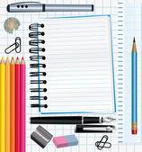 School supplies background. — Stock Vector