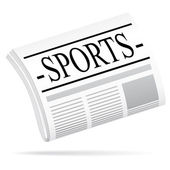 Sports newspaper. — Stock Vector