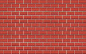 Red wall bricks background. — Stock Vector