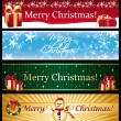 Chirtsmas greetings banners — Stock Vector