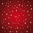 Golden stars on a red festive background. - Stock Vector