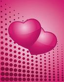 Modern love background — Stockvektor
