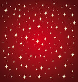Golden stars on a red festive background. — Stock Vector