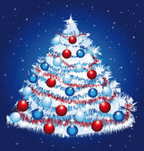 Beautiful christmas tree. — Stock Vector