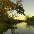 Makgalakwena River at sunrise — Stock Photo