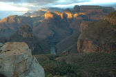 Blyde River Canyon at sunrise — Stock Photo