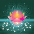 Magic lotus - Stock Vector