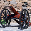 Wooden cannon — Stock Photo #3727437
