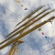 Stock Photo: Masts and rigging