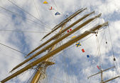 Masts and rigging — Stock Photo