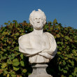 Park sculpture - the ancient Roman senator — Stock Photo