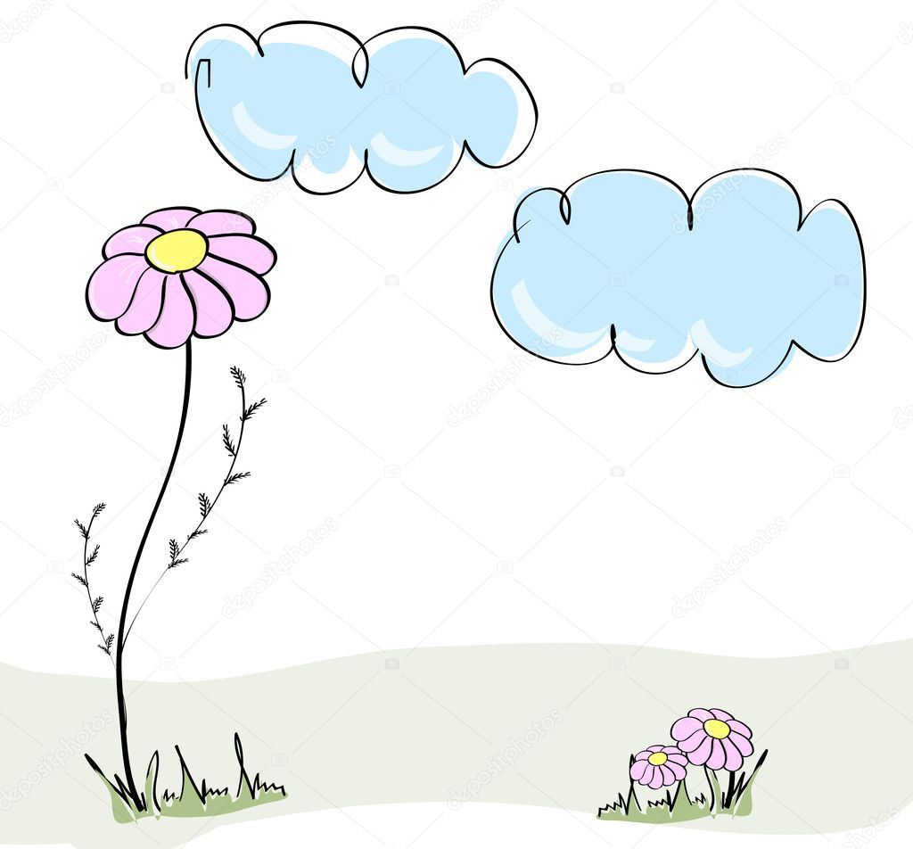 Cute spring hand drawn illustration  — Stock Vector #2979037