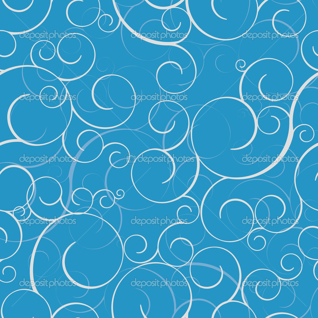Seamless pattern with swirls. Tile for endless background — Stockvectorbeeld #2979463
