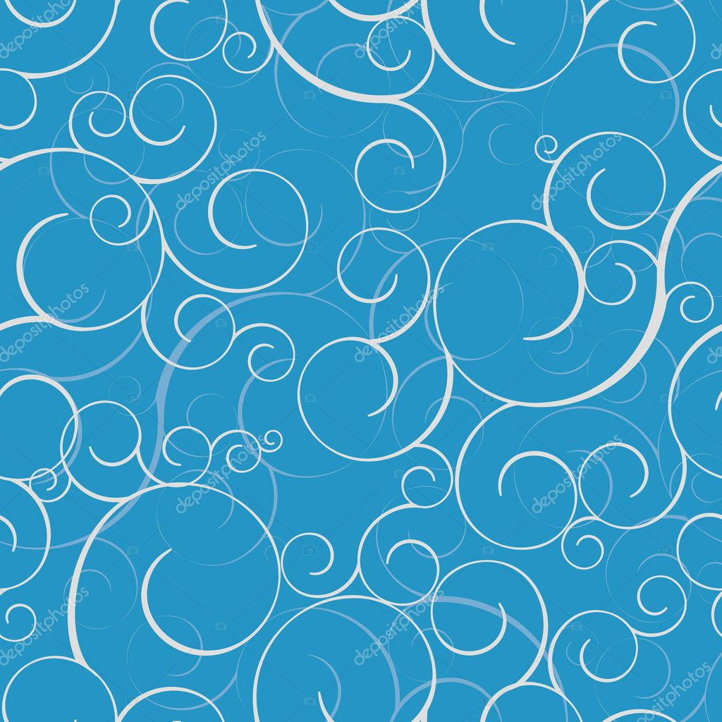 Seamless pattern with swirls. Tile for endless background — ベクター素材ストック #2979463