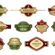 Collection of design labels - Stock Vector