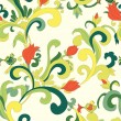 Royalty-Free Stock Vector Image: Seamless background with floral elements