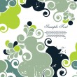 Royalty-Free Stock Vectorielle: Abstract grunge background with swirls