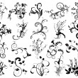 Collection of floral design elements - Imagen vectorial