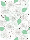 Sans soudure fond floral — Vecteur
