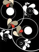 Swirls ile arka plan — Stok Vektör