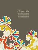 Abstract background with floral elements — Stockvektor