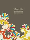 Abstrait avec éléments floraux — Vecteur