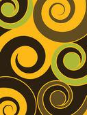 渦と抽象的な背景 — ストックベクタ
