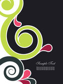 Abstract background with swirls — Vector de stock